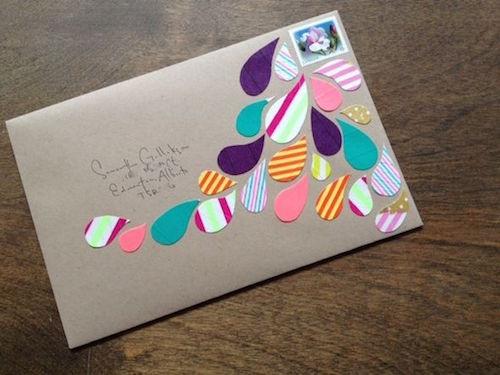 Оформление конверта своими руками