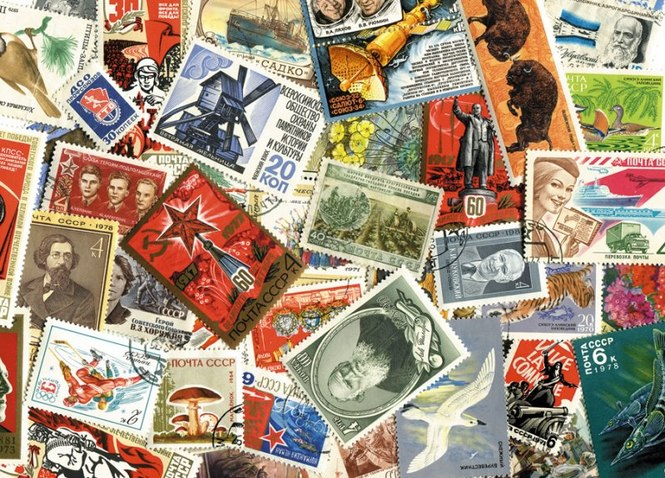 Открытки почтовые с марками, открытки новым